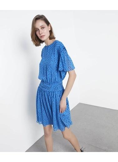 Ipekyol Puantiyeli Elbise Mavi